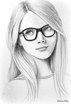 Belle fille avec lunettes dessin en 2019 - Dessin de fille belle ...