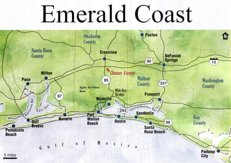 Emerald Coast Florida Map Florida Panhandle Wikipedia The Free Encyclopedia   Map of florida
