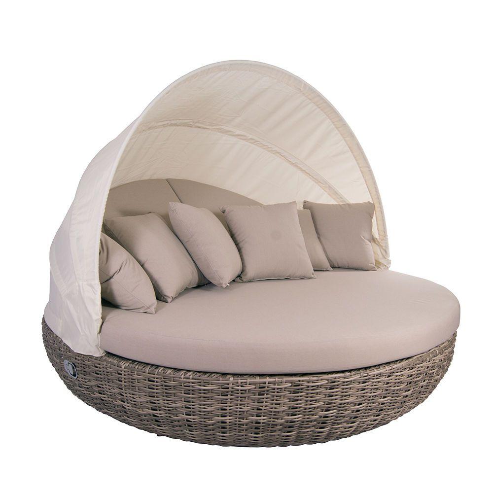 Liegeinsel Pacific Sonneinsel Polyrattan Lounge 360 Drehbar Garten Liege Mobel Polyrattan Lounges Liege Garten Sonneninsel Polyrattan
