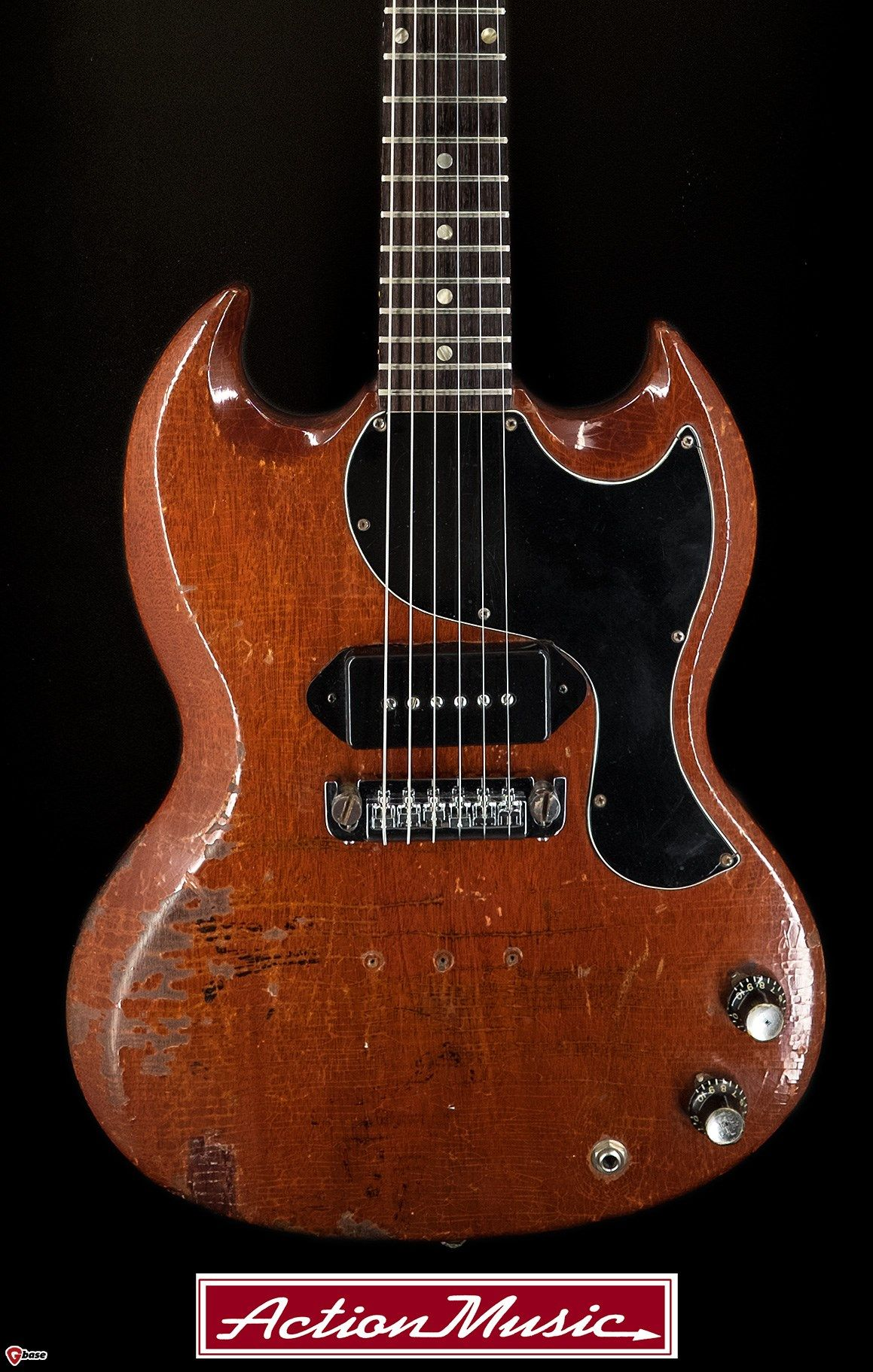 1966 Gibson Guitar Wiring Diagram Electrical Diagrams Paul Reed Smith Sg Junior Cherry Very Good 1750 00 Vintage Guitars
