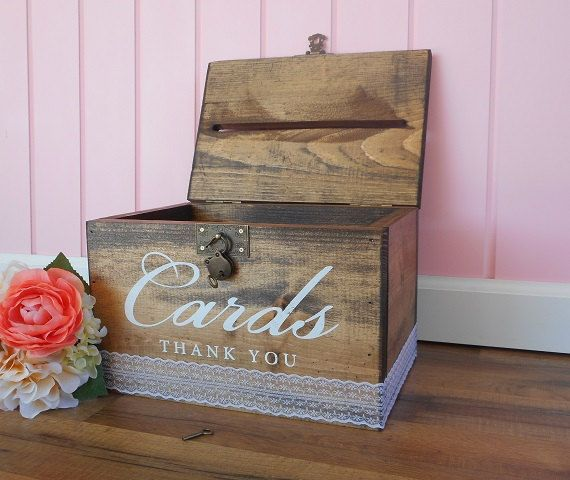 Locking Card Box Rustic Wedding Card Box by DownInTheBoondocks ...