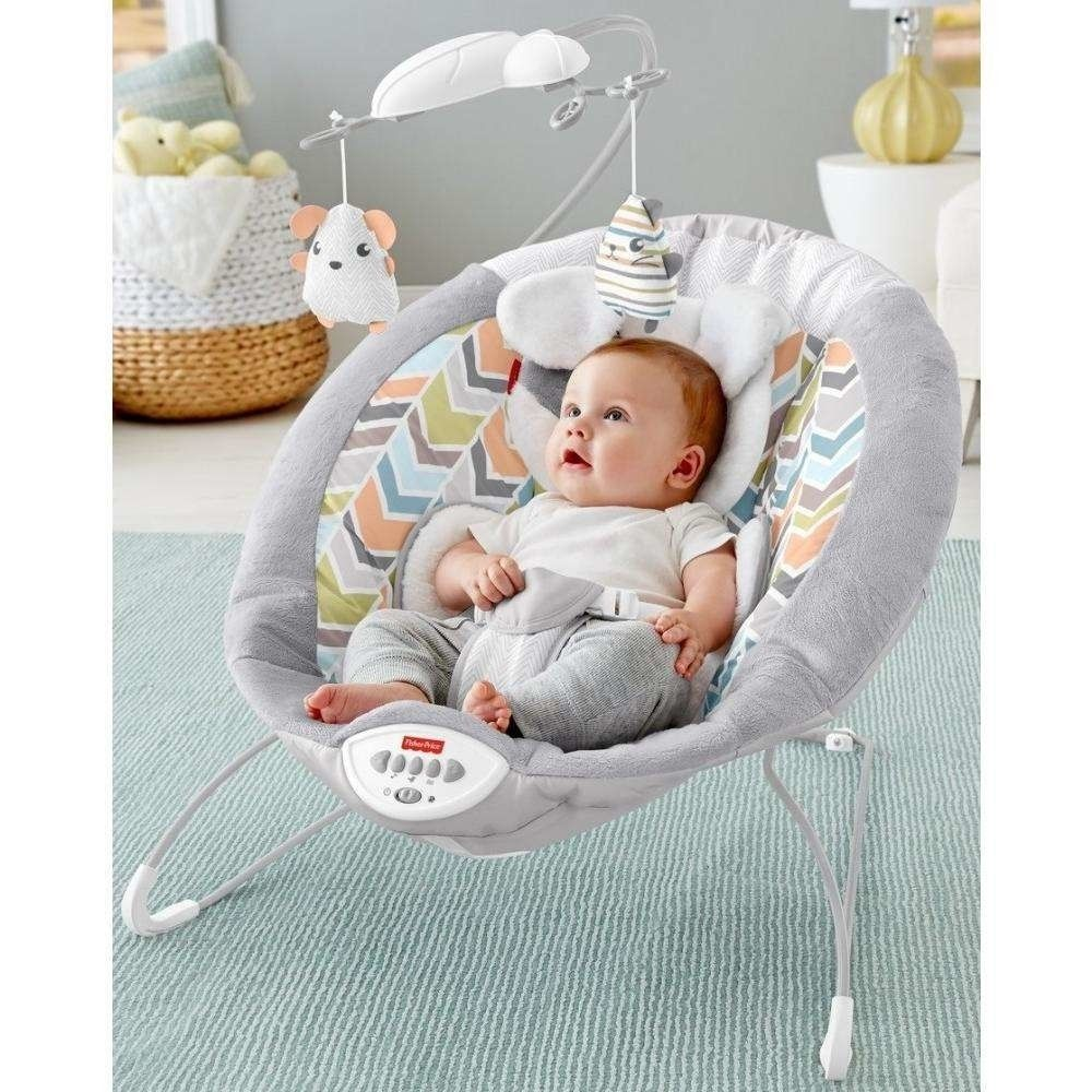 NEW Baby Bouncer /& Rocker  Chair with Soothing Vibration Music and Toys 0 M+