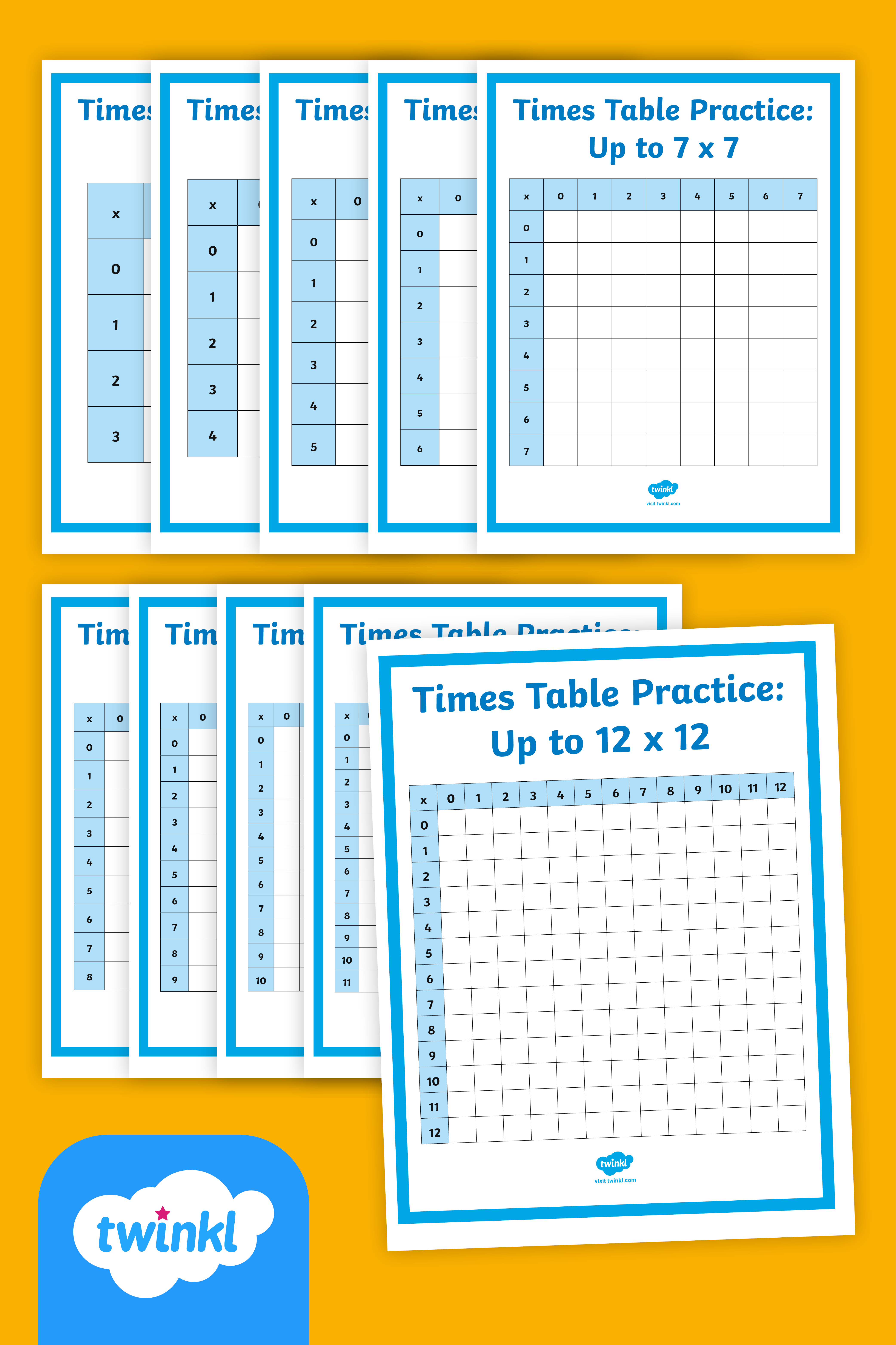 Fact Fluency Times Tables Practice Grids To 12x12 In 2020 How To Memorize Things Times Tables Practice Math Teks
