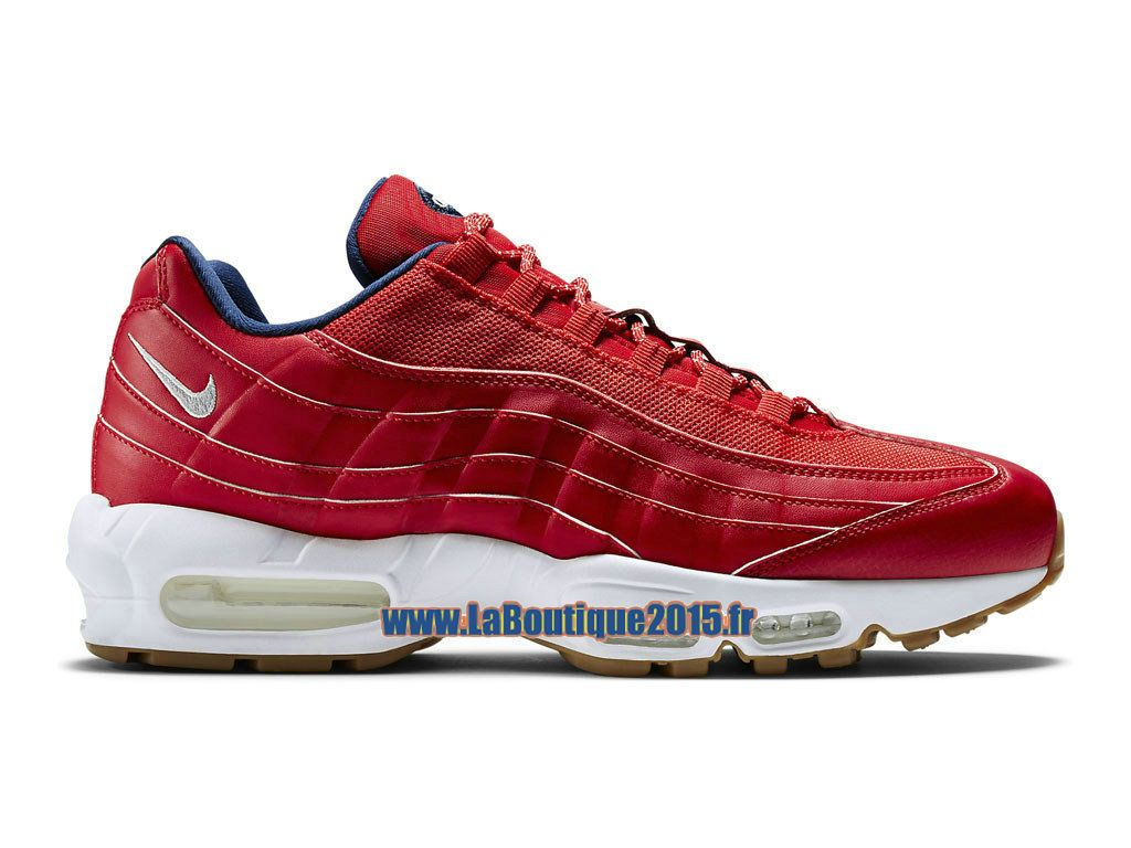 Nike Chaussures Air Max 95 Premium Chaussures Nike Nike Pas Cher Pour Homme Rouge 19279e