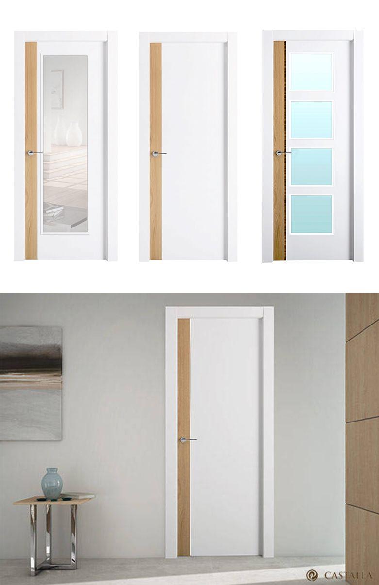 Puerta de interior blanca modelo sicilia de la serie for Modelos de puertas
