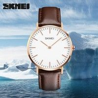 Wish | Bestseller Men's Fashion Quartz Analog Watches Leather Strap Casual Dress Watch