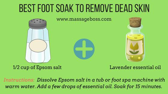 diy foot soak remove dead skin