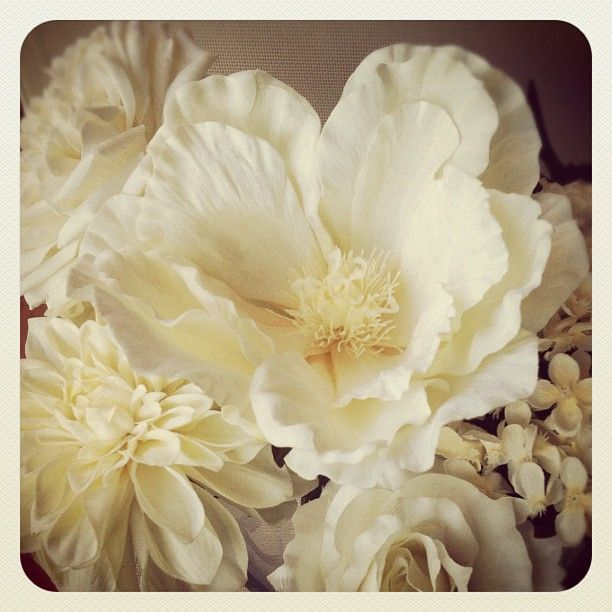 Instagram white ivory silkflowers magnolia rose bridalflowers flower mightylinksfo