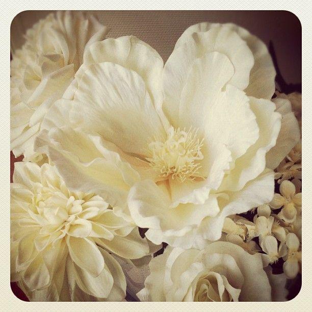 Instagram white ivory silkflowers magnolia rose bridalflowers flower mightylinksfo