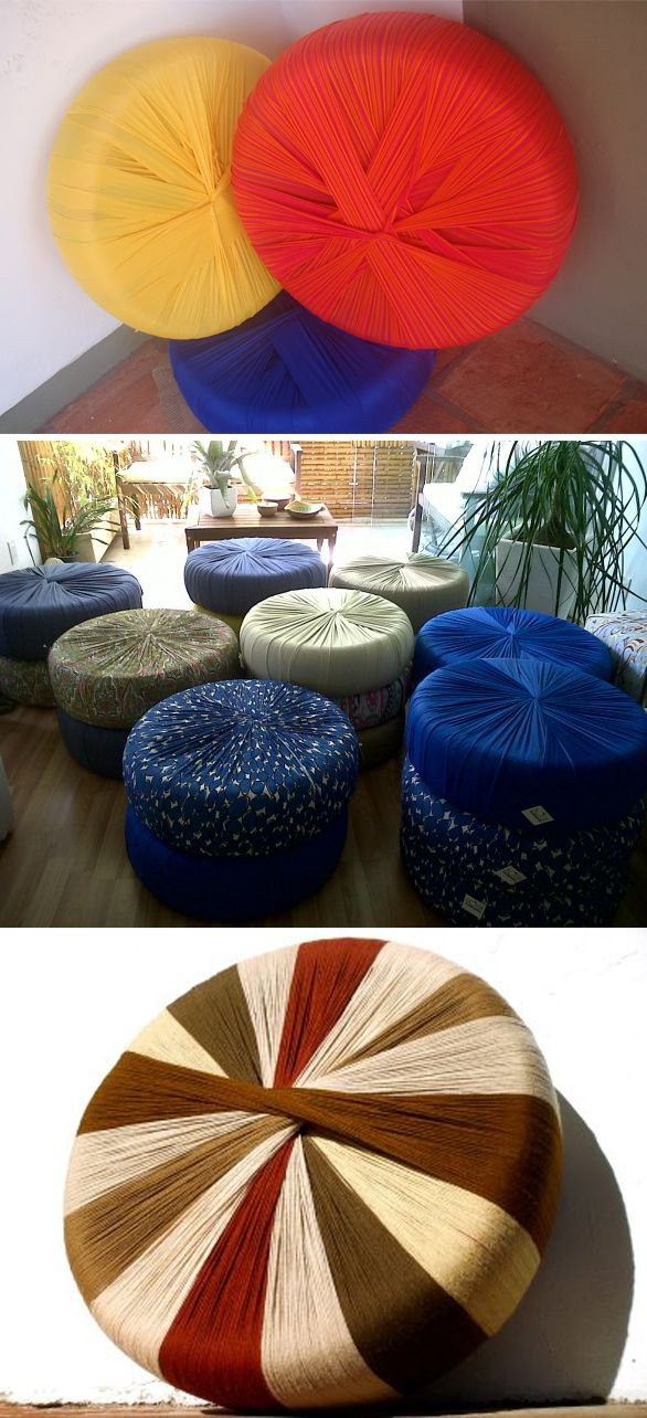 transforme pneus velhos em puffs reciclagem transform old tires into beanbags recycle http. Black Bedroom Furniture Sets. Home Design Ideas