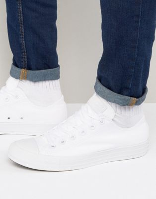 umbrella Descriptive feather  Converse All Star Ox Plimsolls In White 1U647