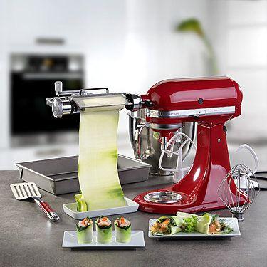 KitchenAid Küchenmaschine und Gemüseblattschneider und gratis - kochen mit küchenmaschine