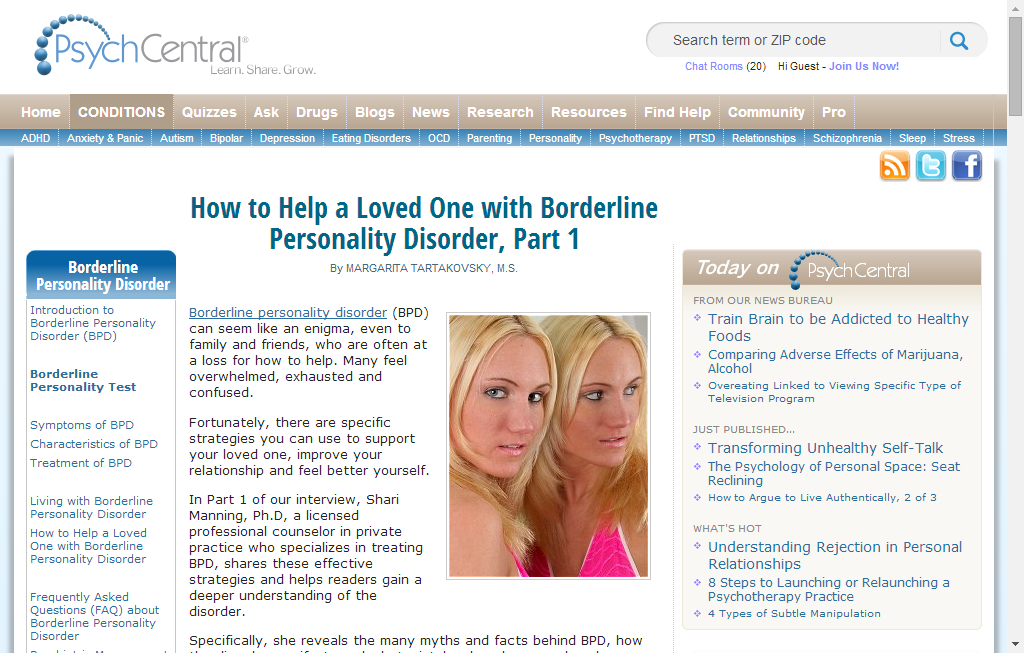How to Help a Loved One with Borderline Personality