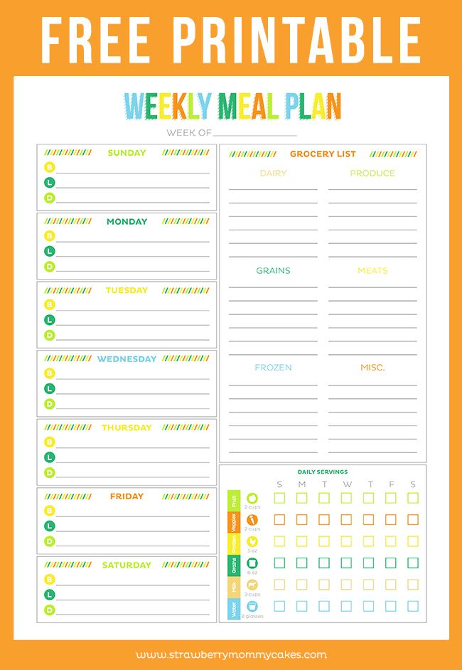 FREE Printable Budget Sheet Weekly meals, Weekly meal planner - free menu planner template