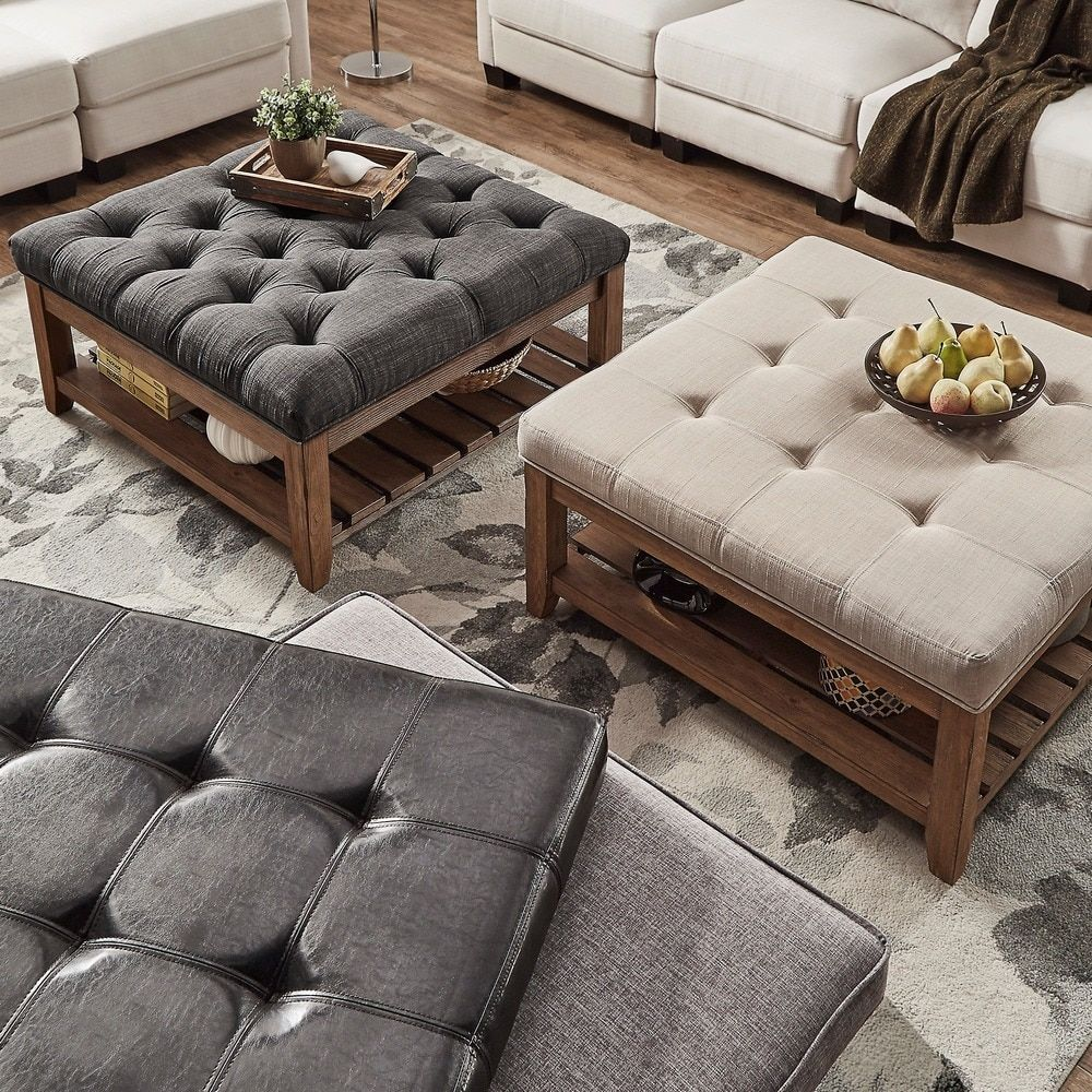 Lennon Pine Planked Storage Ottoman Coffee Table By Tribecca Home Ping The Best Deals On Sofa End Tables