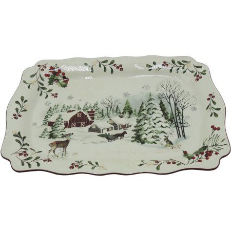 Better Homes and Gardens Heritage Serve Tray | Trays, Walmart and ...
