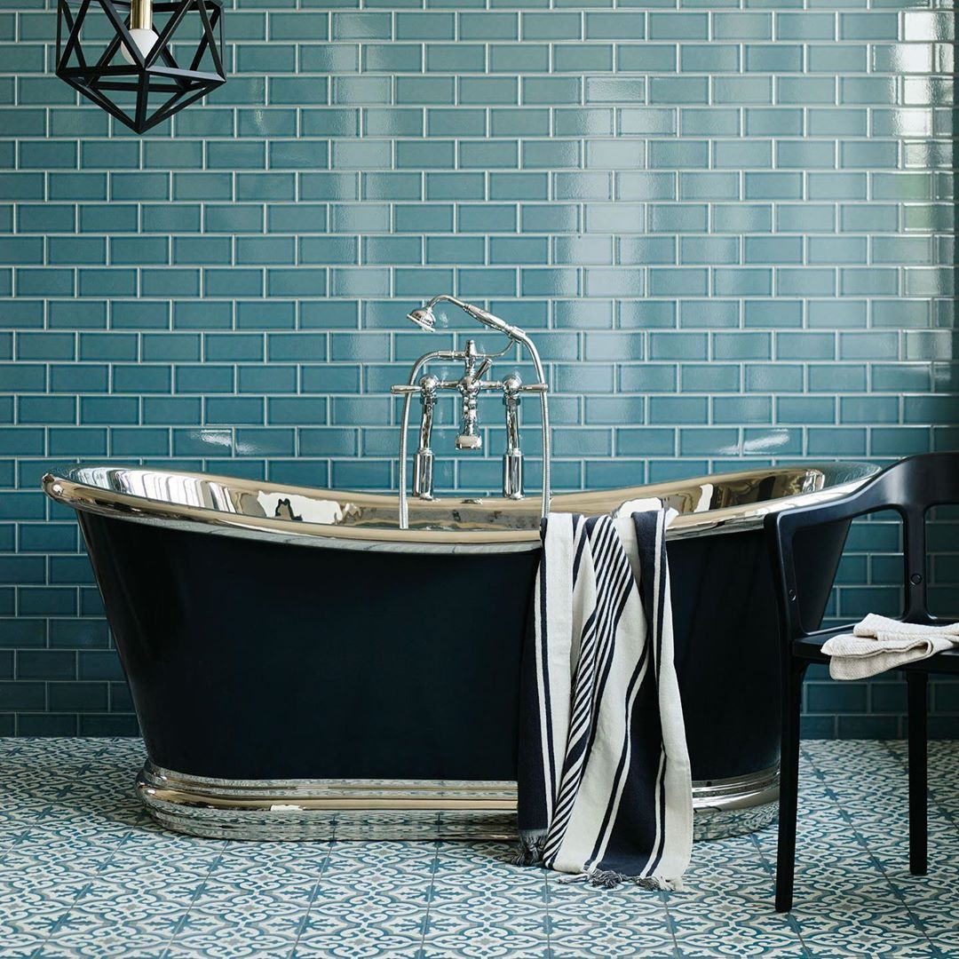Claybrook Uk On Instagram Tiles Are A Great Way To Keep The Budget Under Control When Creating A Decorative In 2020 Turquoise Bathroom Bathroom Design Tile Bathroom