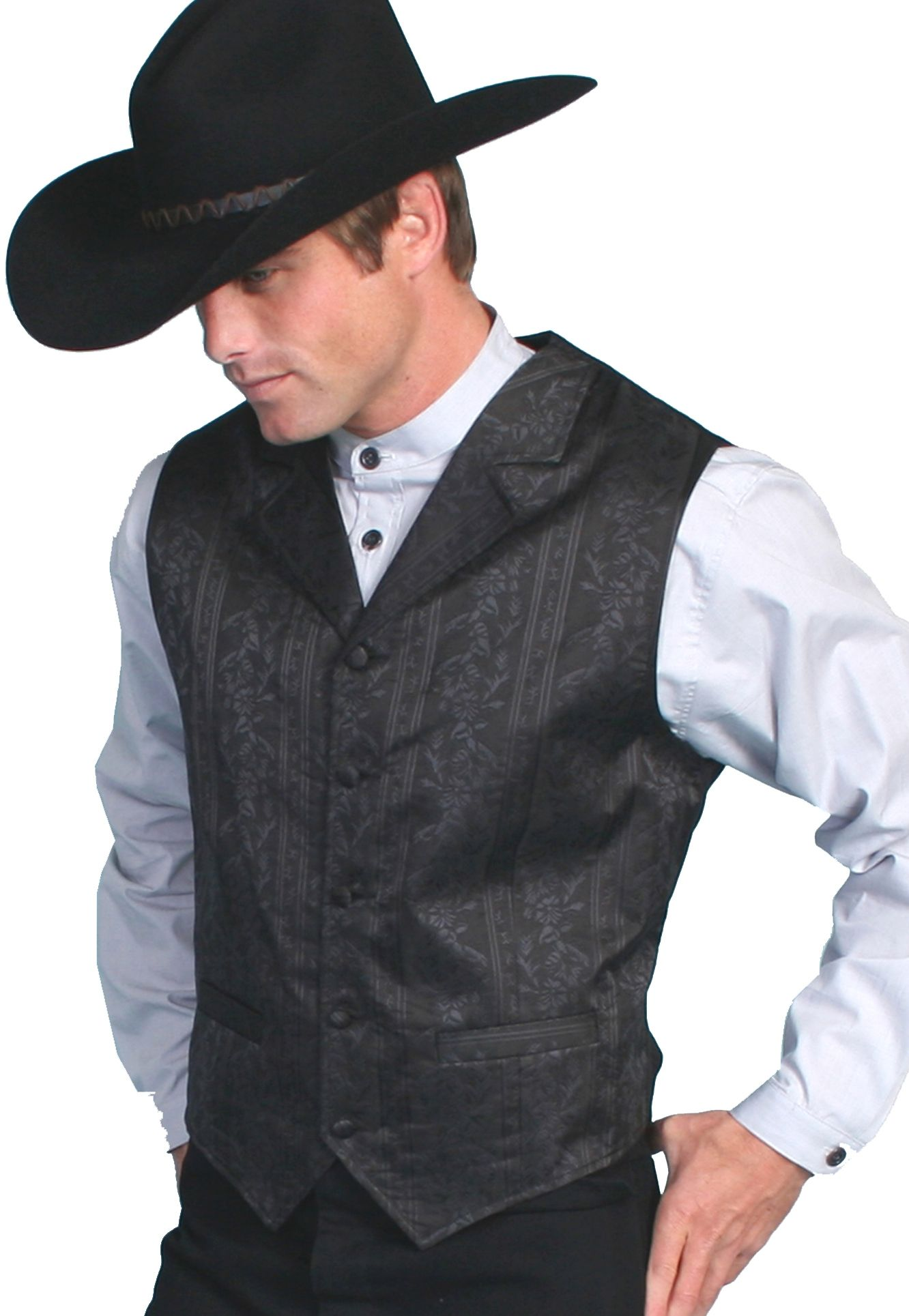 Mens Western Vest For Men Paisley Scully Wedding