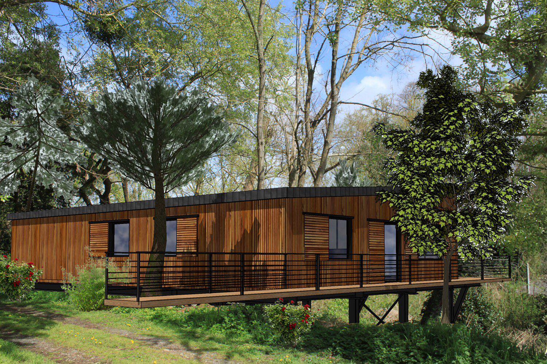 plan 3d maison bois pilotis maisons pilotis pinterest. Black Bedroom Furniture Sets. Home Design Ideas