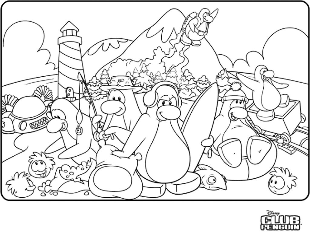 Club Penguin Coloring Pages Ninja Club penguin, Penguin