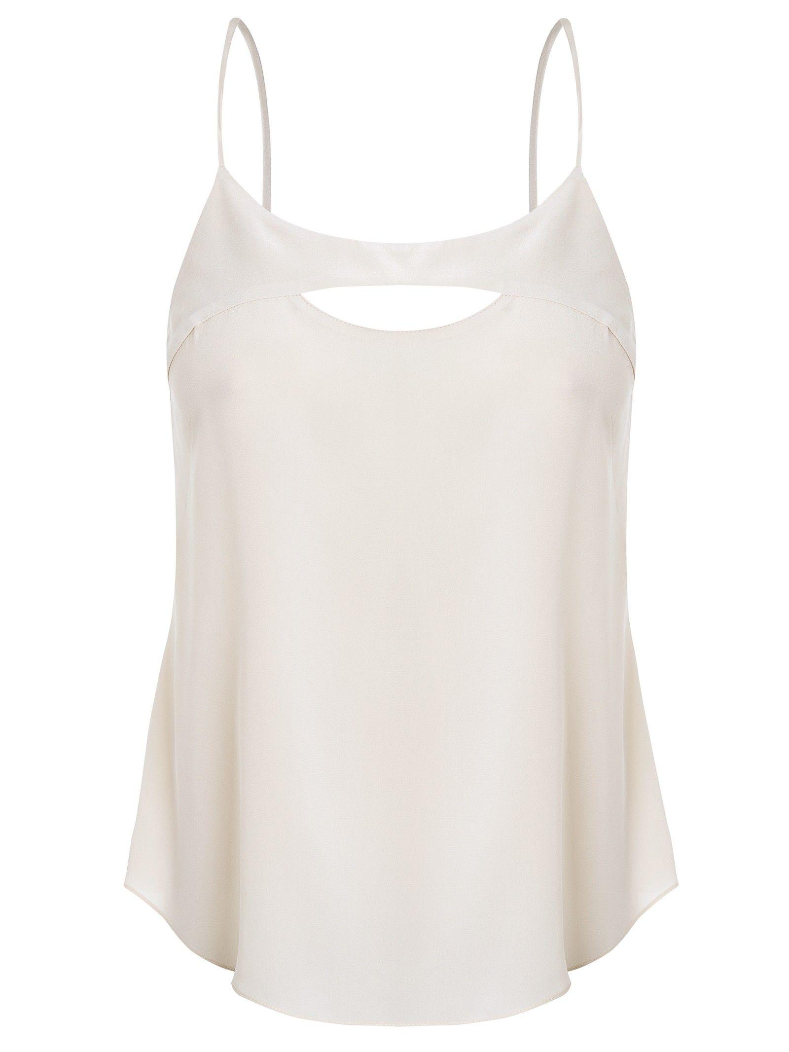 0cbb996705 Blusa Feminina Seda Alça Abertura Decote - Animale - Branco - Shop2gether
