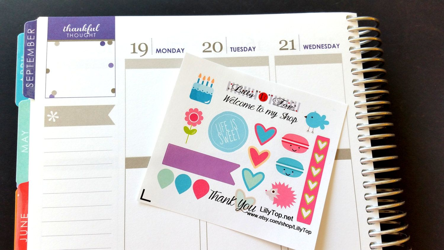 Lil Page, Cake, Flower, ADD ON for orders over 10.00, Fits Erin Condren and others, Plum Planner, Lilly P., Planner Stickers, Scrapbook by LillyTop on Etsy