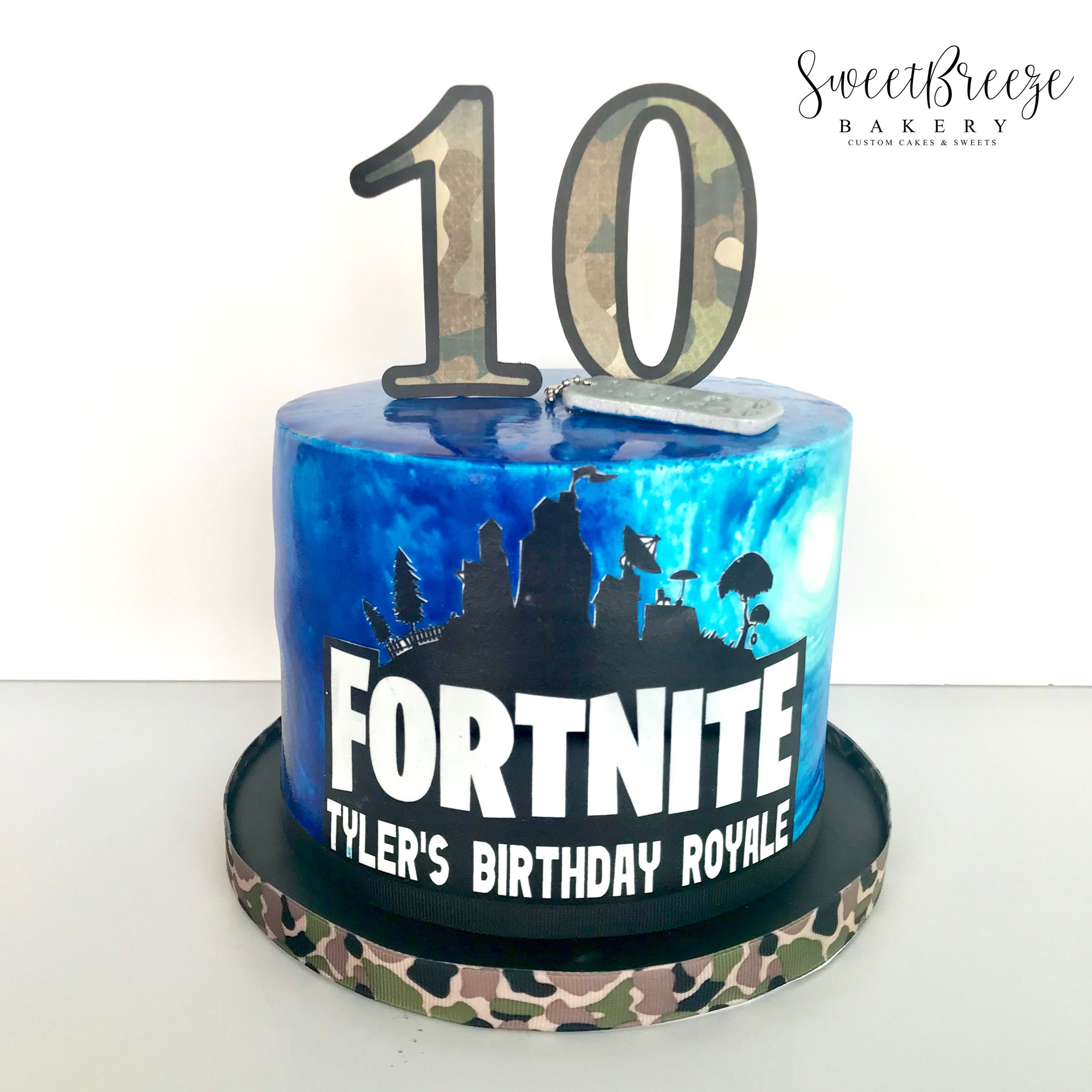 Fortnite birthday cake sweetbreezebakery 10 birthday