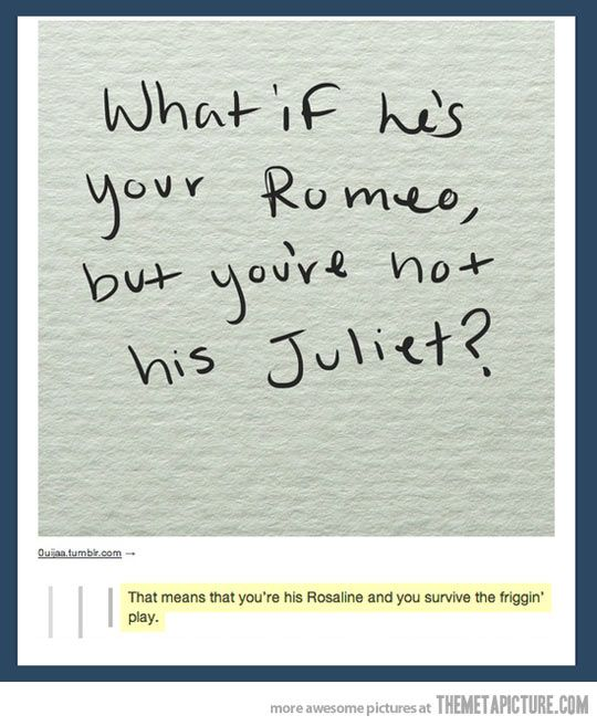 What If He S Your Romeo Funny Quotes Quotes Funny