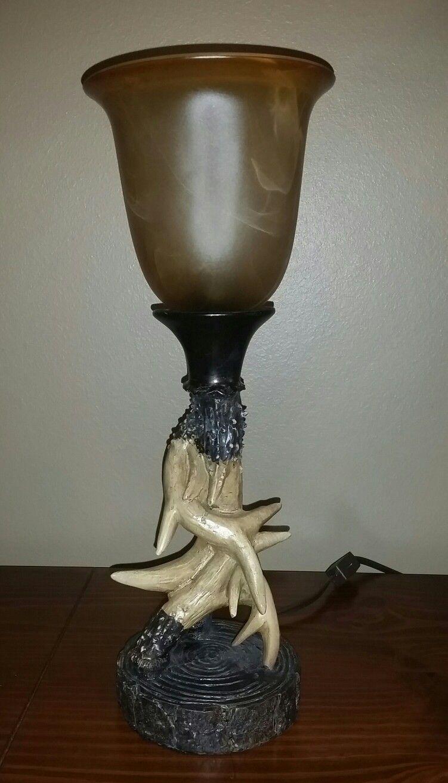 our deer antler lamp | Antler lamp, Deer antler lamps ...
