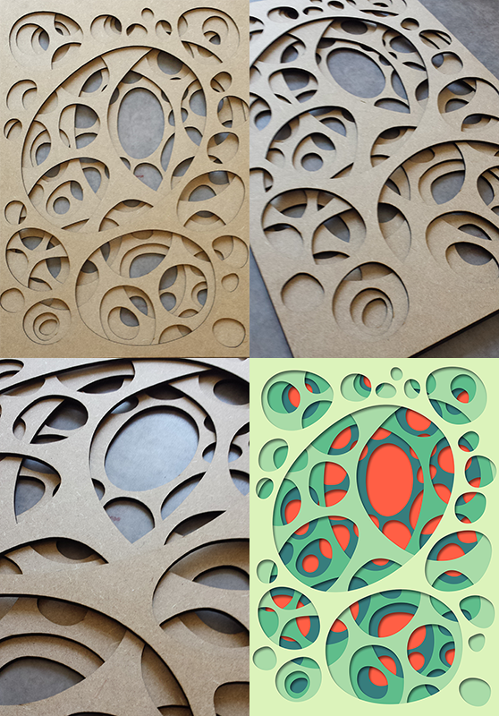 """Interarea #07Laser cut in the FabLab at """"La Gare Numérique de Jeumont"""" for the upcoming exhibitions in New-York and Tokyo."""
