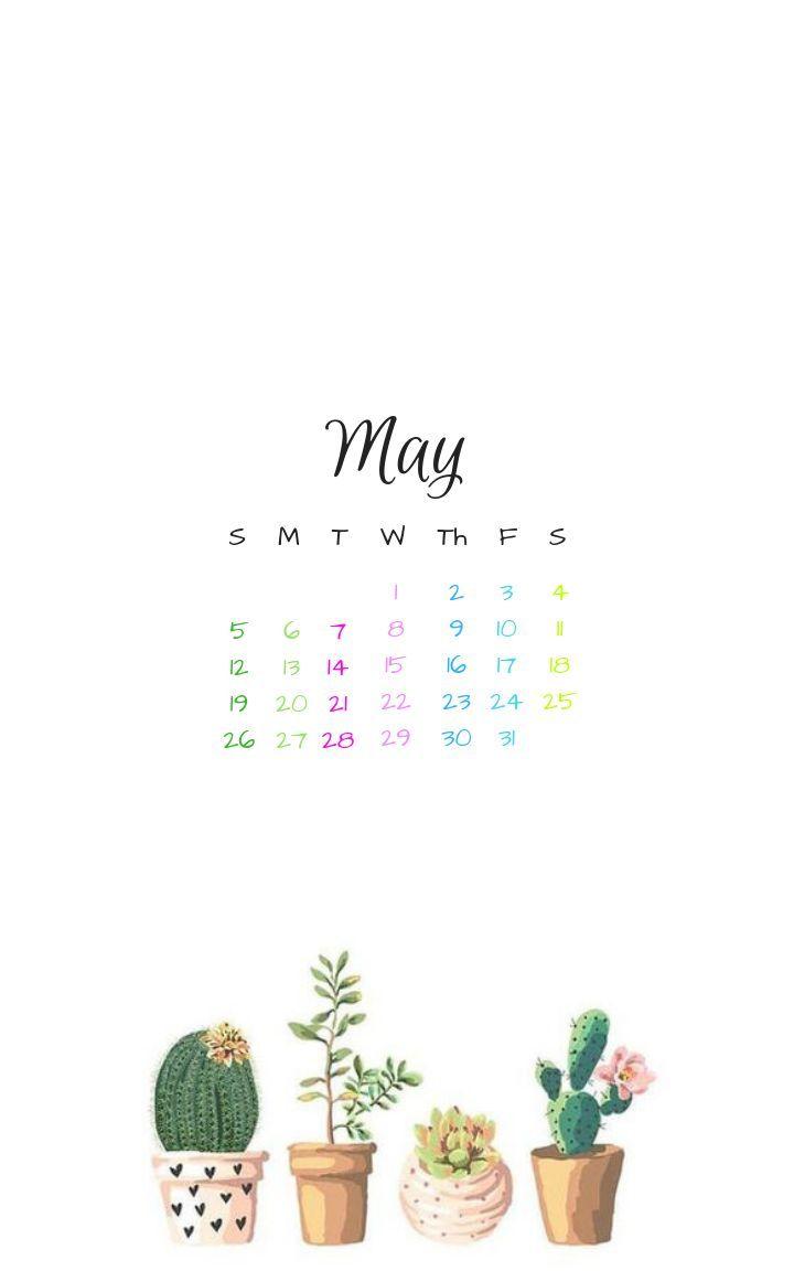 May 2019 Iphone Lock Screen Background Wallpaper Calendar