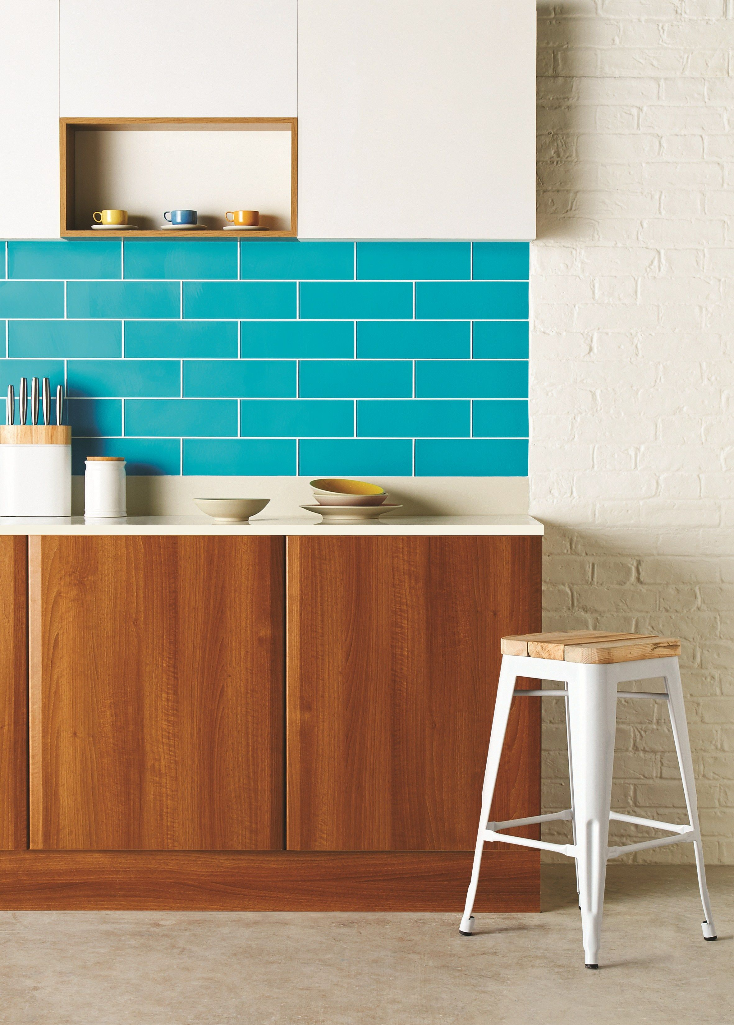 Beautiful blue - these vibrant, bright blue Colorado glass tiles ...