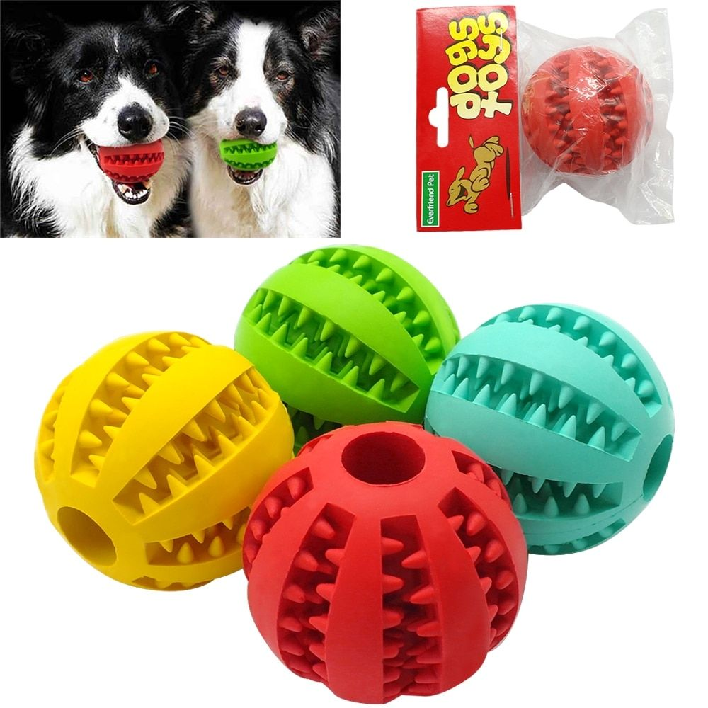 Soft Rubber Dog Toys Chew Ball Toy For Dogs Bite Resistant Tooth
