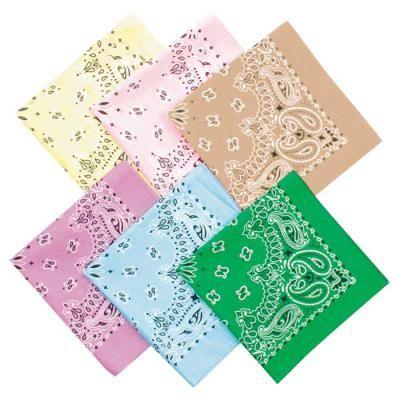 Set di 3 bandanas paisley in cotone modello cachemire