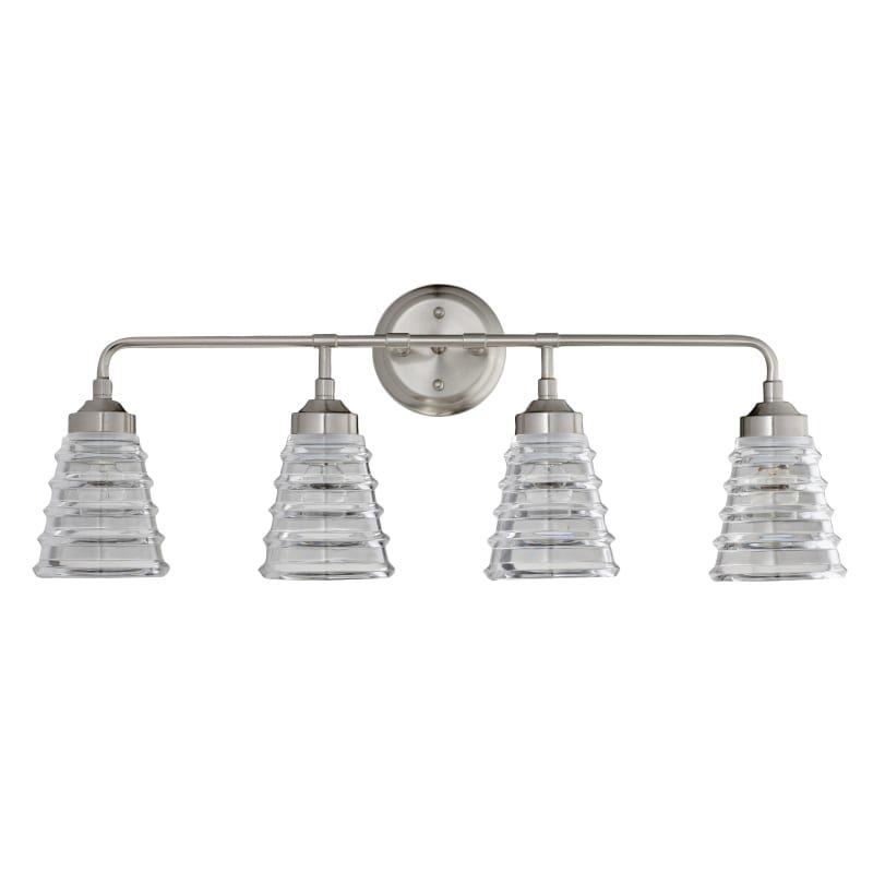 Photo of Varaluz 313B04 Amherst 29″ Bathroom Light Brushed Nickel Indoor Lighting Bathroom Fixtures Vanity Light