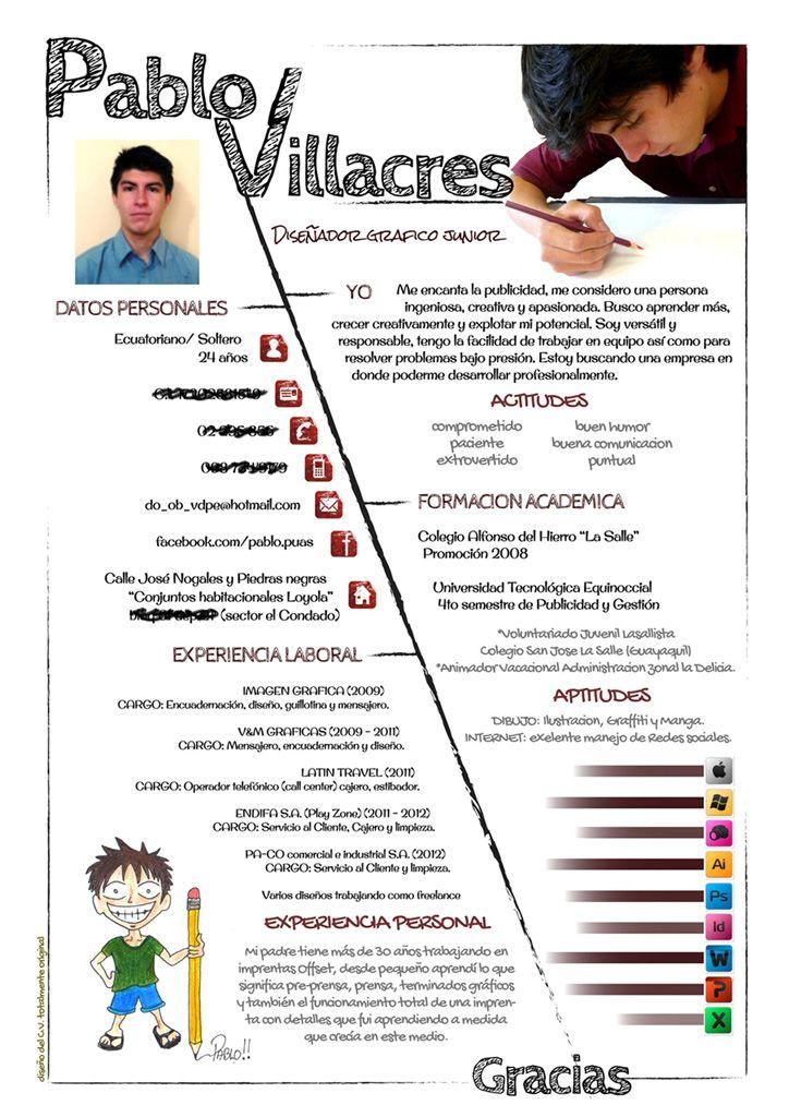 Pablo De Ecuador Nos Envia Su Cv Que Te Parece Lycee Professionnel Curriculum Lycee