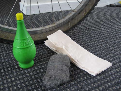 remove bike rust with lime juice.  Awesome!