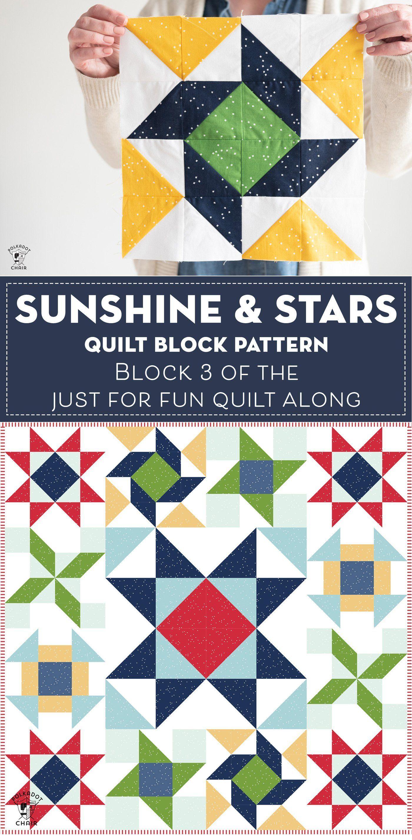 Sunshine And Stars Quilt Block