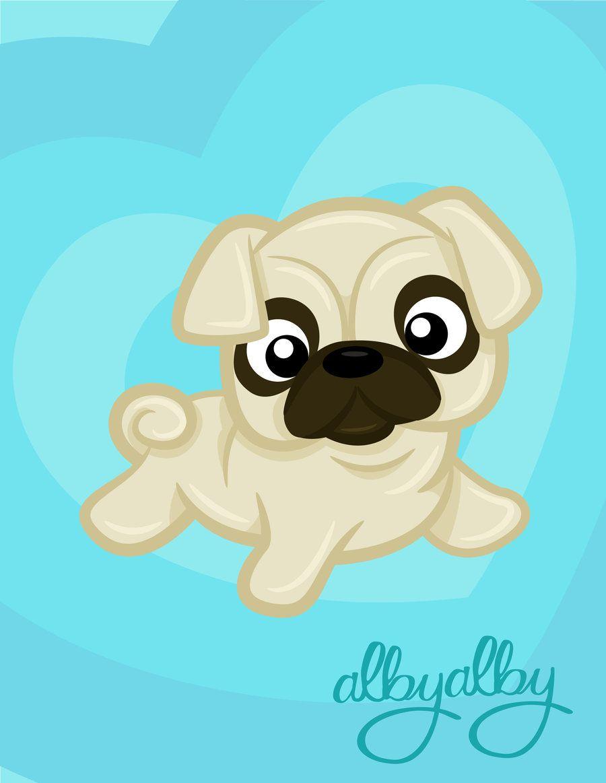 Cute Pug By Alby Lepetitedreamer Deviantart Com On Deviantart