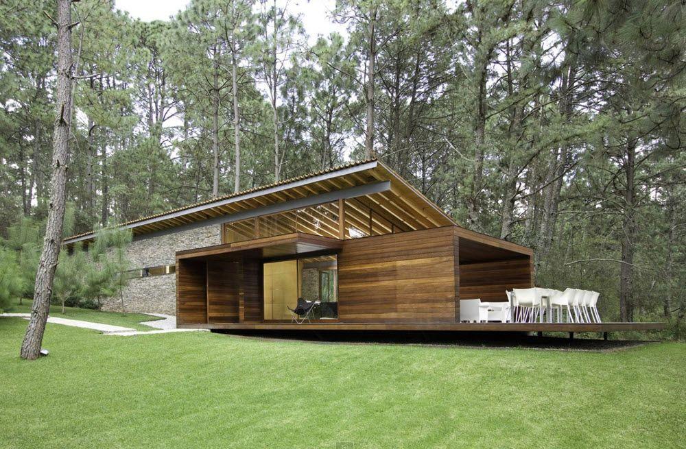 Fachada en madera de casa de campo moderna Lugares diferentes - fachada madera