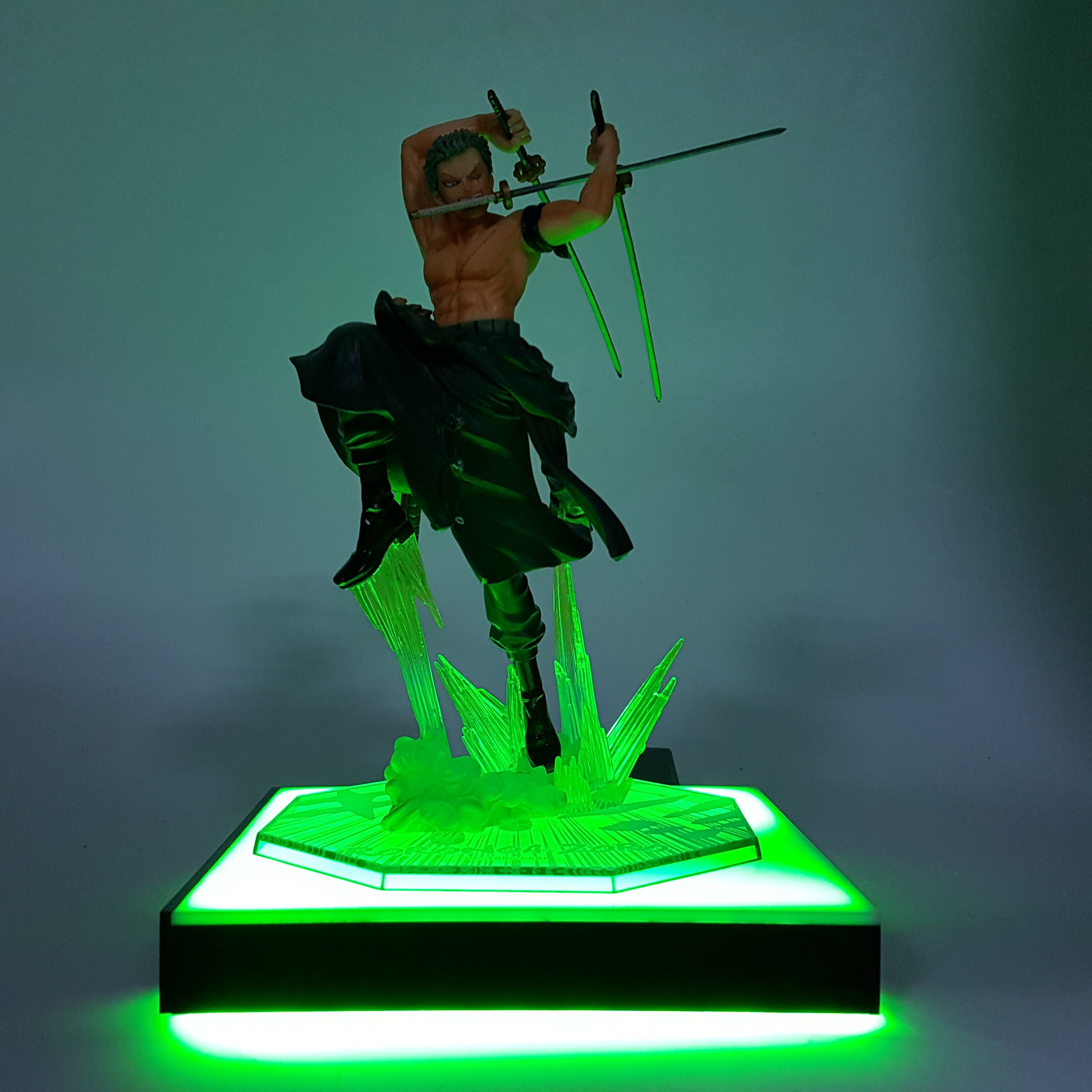 One piece zoro led light diy display roronoa zoro star