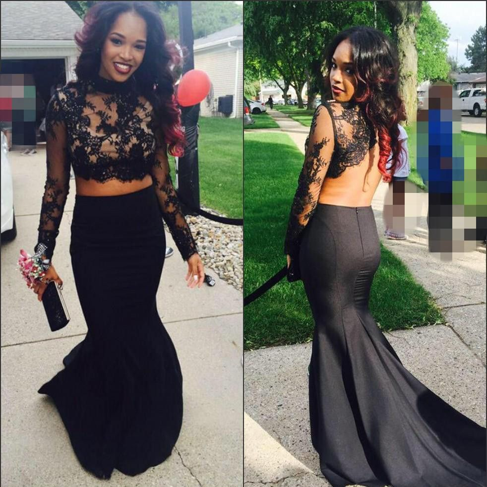 Black prom dress in two pieces pst black prom dresses and products