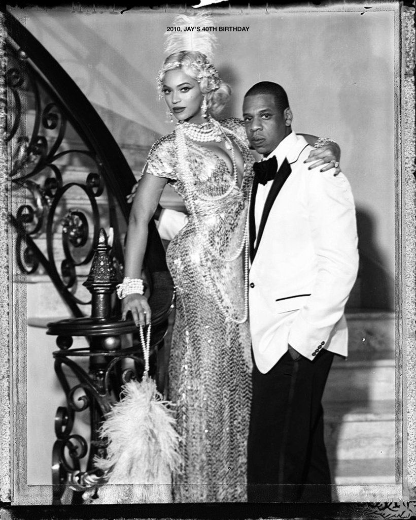 After 12 Years Of Marriage Beyonce And Jay Z Are Still Crazy In Love Gatsby Party Outfit Harlem Nights Theme Beyonce And Jay [ 1024 x 820 Pixel ]