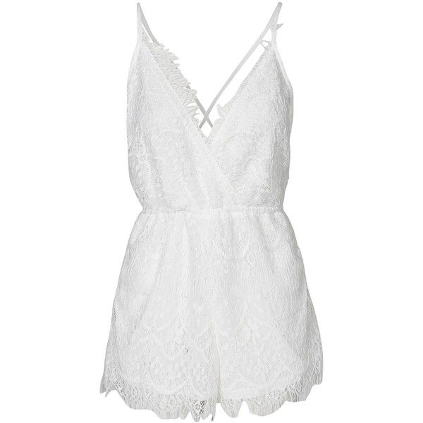 7b4e2804d4 Reverse Frayed Edge Playsuit (140 BAM) ❤ liked on Polyvore featuring  jumpsuits