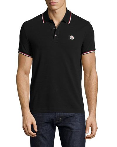 34ae1a5c6f3c MONCLER Tipped Piqué Polo Shirt