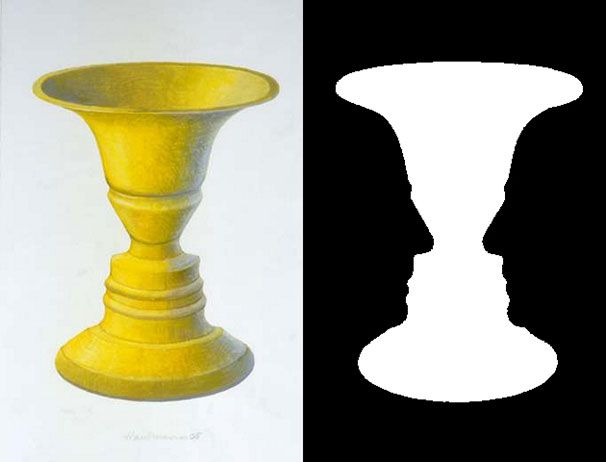 Vaasi vai kahdet kasvot? Kuva: John smithson 2007, Wikimedia Commons