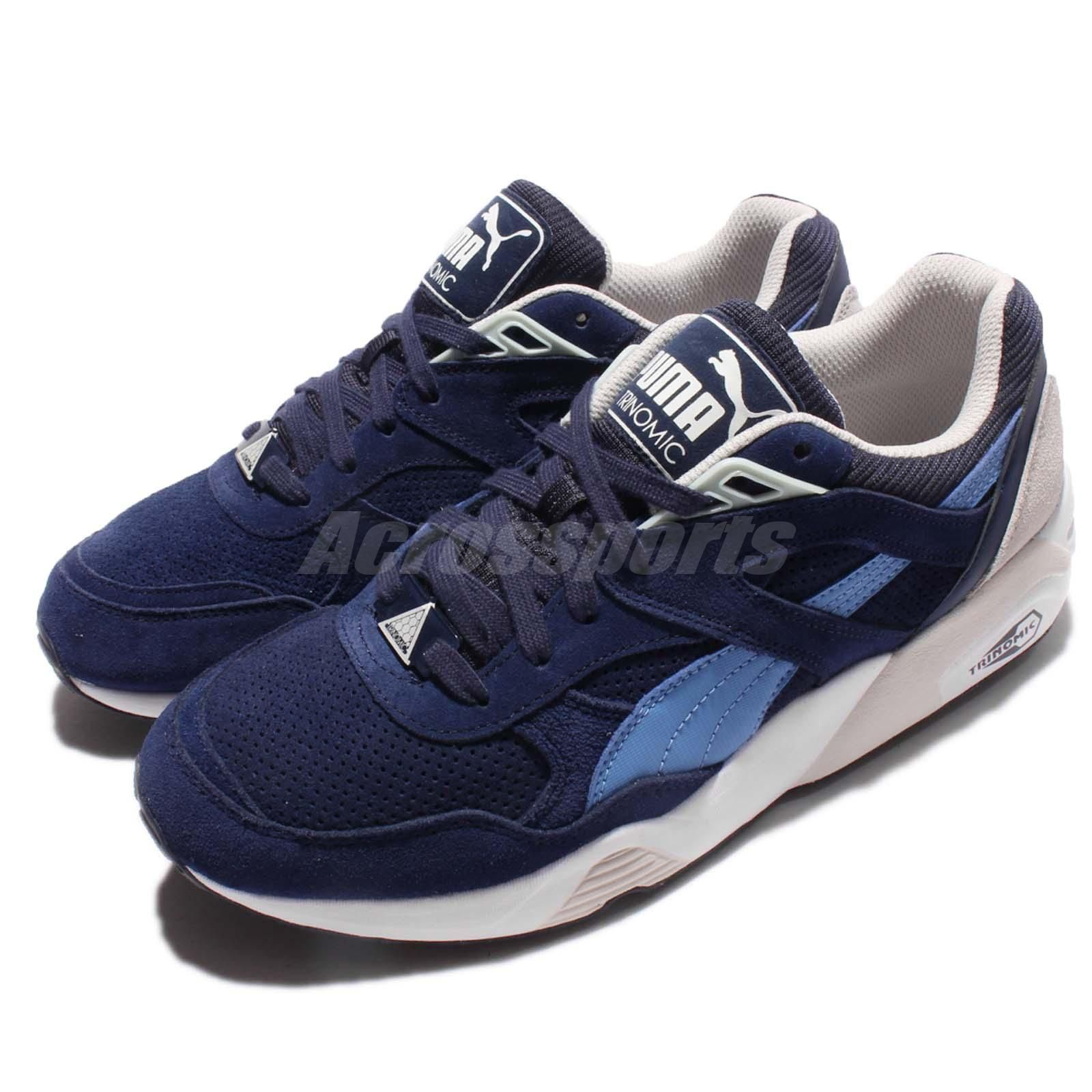 Puma R698 Remaster Blue Navy White Trinomic Men Running Shoes Sneakers 361418 02