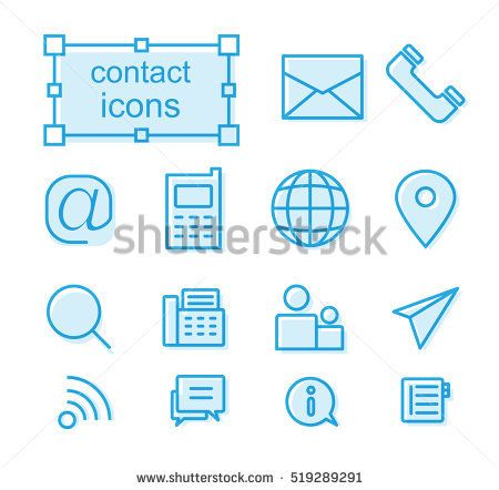 Outline icons set - Contact us Photo by thesomeday123 on Shutterstock