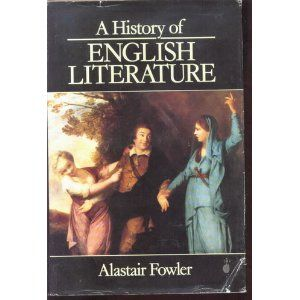 A History of English Literature [Hardcover]  Alastair Fowler (Author)