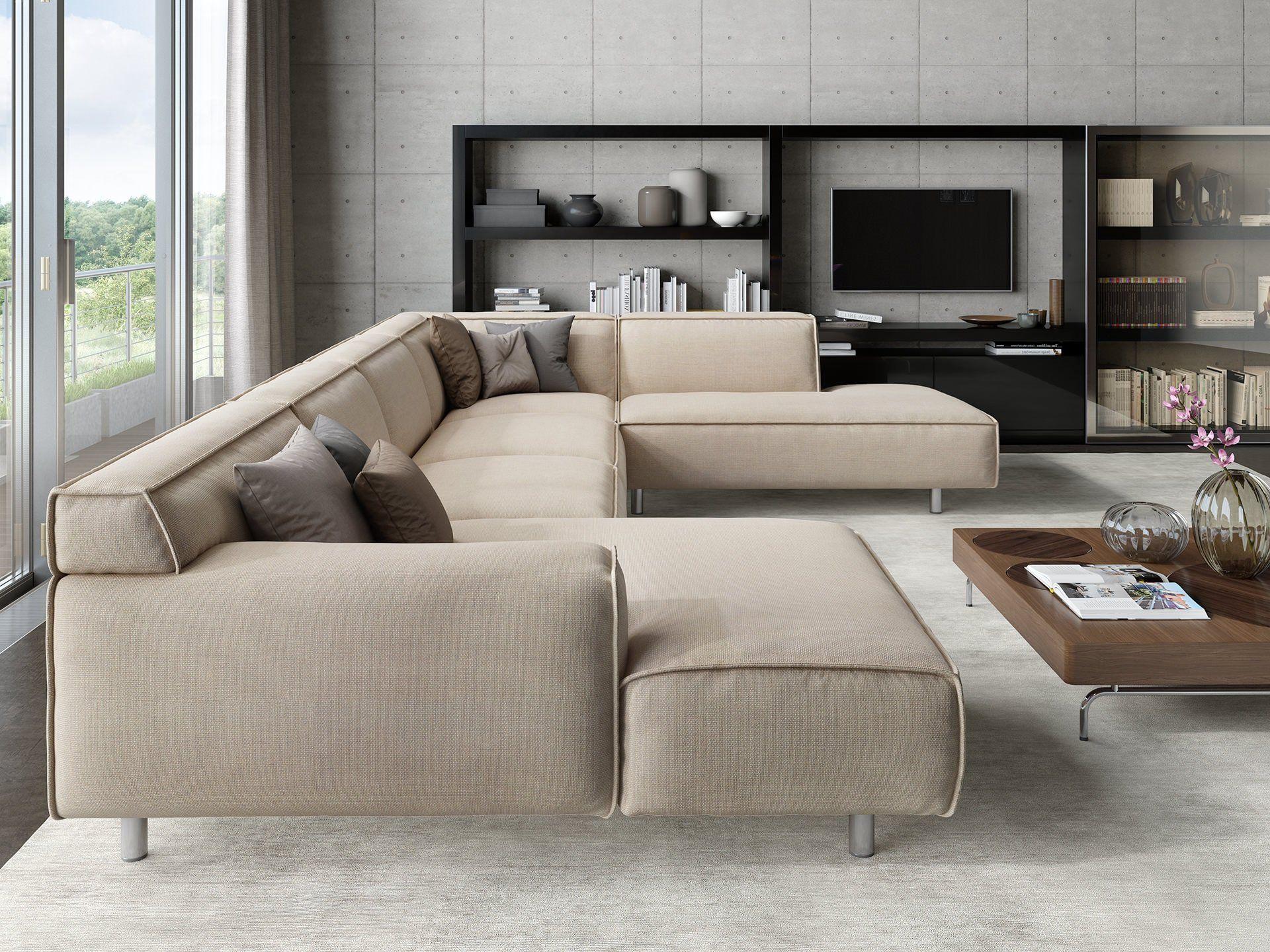 Stoff Sofa Roletto U Form Kaufen Sofanella Wohnen Haus Deko Sofa Stoff
